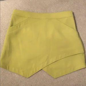Lime green skirt